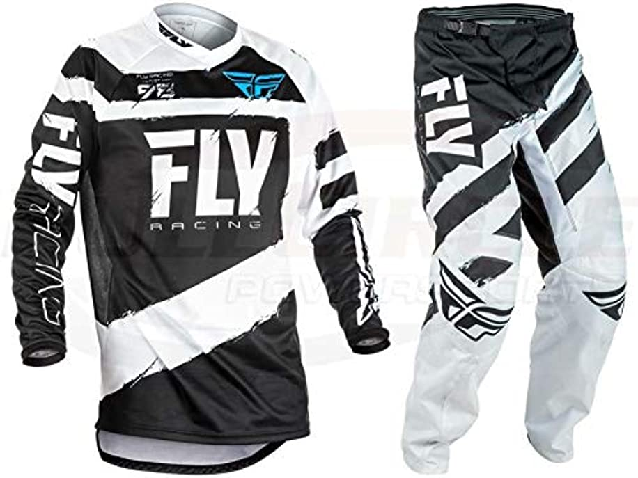 Fly Racing Black F-16 Youth Small Jersey & 18
