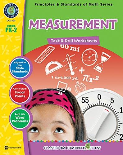 Measurement - Task & Drill Sheets Gr. PK-2 (Principles & Standards of Math) - Classroom Complete Press