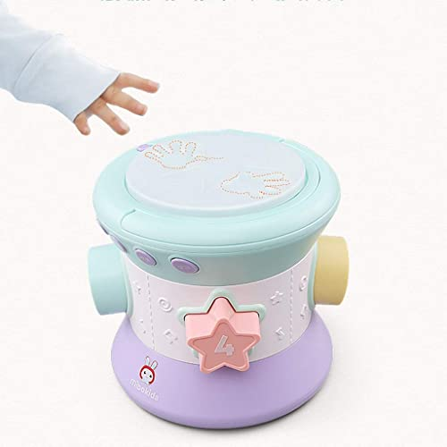 LIPENG-TOY Pat Trommel Musik Trommel Baby Früherziehung Lernspielzeug Baby Spielzeug Baby 3-6-12 Monate Musik Handtrommeln (Farbe   Bronze)