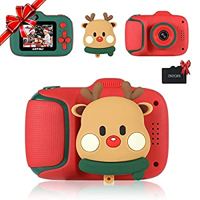 Kids Digital Camera - Dual Lens Kids Selfie Camera,Birthday Gifts for Girls and Boys Age 3-8,HD Digital Video Cameras for Toddler,Kids Toys for 3 4 5 6 7 8 Year Old Girls with 32GB SD Card-Red