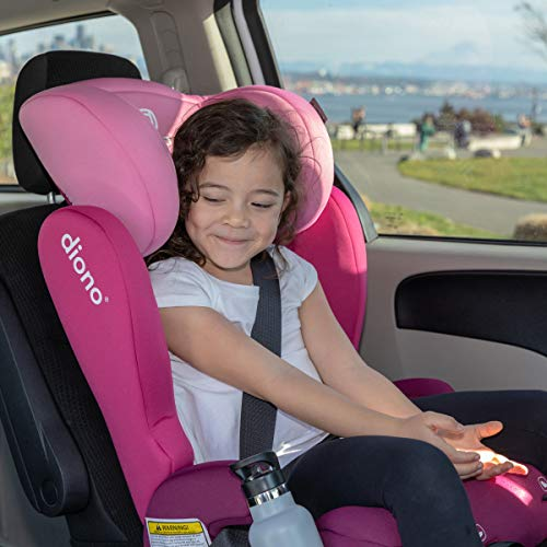 Diono Cambria 2 Latch, 2-in-1 Belt Positioning Booster Seat, High-Back to Backless Booster XL Space and Room to Grow, 8 Years 1 Booster Seat, Ultimate Safety and Protection, Pink