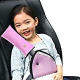Diagtree Belt Strap Cover, Seat Belt Cover for Kids Seatbelt Pillow Adjust Vehicle Shoulder Pads Safety Headrest Neck Support for Children Baby Adult (Pink)