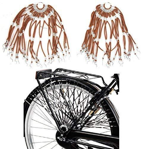 Retina/Paraveste Elastica per Bicicletta (Coppia) - Scegli Il Colore (Marrone)