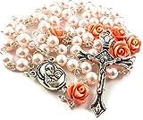 Zoom IMG-2 collana rosa cattolico con perla
