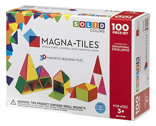Magna-Tiles 02300 Solid Colors 100 Piece Set