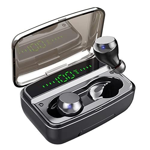 Bluetooth Kopfhörer, 150H Spielzeit Kabellos Kopfhörer mit HiFi Stereo So&, integriertem Mikrofone, in-Ear Ohrhörer mit 3500 mAh Ladebox, Kopfhörer Sport IPX7 mit Wasserdicht für Laufen Training