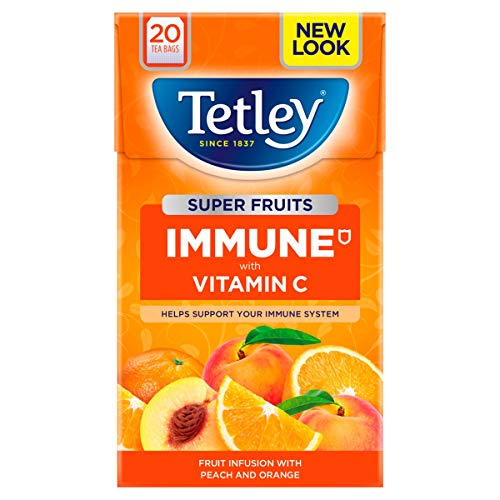 Tetley Super Fruits Immune Peach & Orange, 20 Tea Bags