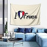 AOOEDM Amo el tapiz de Francia para dormitorio, sala de estar, dormitorio, decoración artística, manta para colgar en la pared, tapices de 60x40 pulgadas