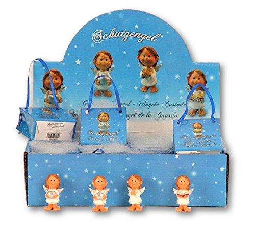Tolles Display mit 24 Engel Figuren in Flügel je in Geschenktütchen Schutzengel Antik Gold Putte Hochzeit Taufe Geburt Weihnachten Angel Deko Gebet Andenken Gardian Angel