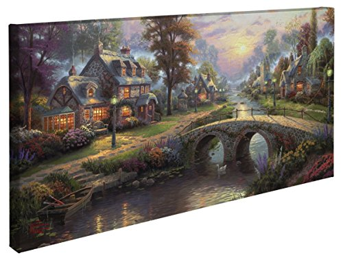 Thomas Kinkade Sunset on Lamplight Lane 16