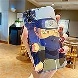 Miwaimao El Dolor de Dibujos Animados de Japón Uzumaki Naruto Kakashi Uchiha Sasuke La Caja del teléfono para el iPhone 12 11 Pro X XS MAX XR 7 8 Plus Cubierta Suave,2,para iPhone 7 Plus