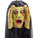 Scary Peeper Screaming Banshee Haunted House Halloween Decoration and Prop– Motion Activated, Screams