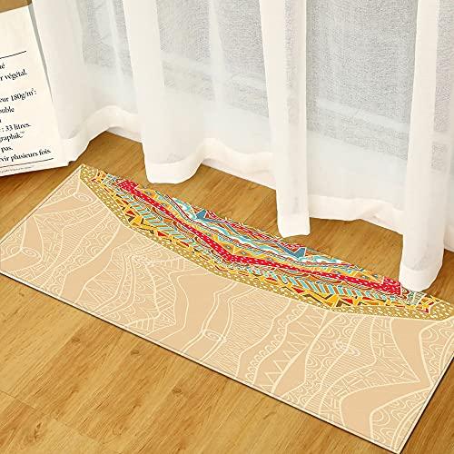 HLXX Carpet Kitchen Carpets Doormats Welcome Floor Mat in the Hallway Bohemian Print Mats for Living Room Anti-Slip Doormat A2 40x120cm
