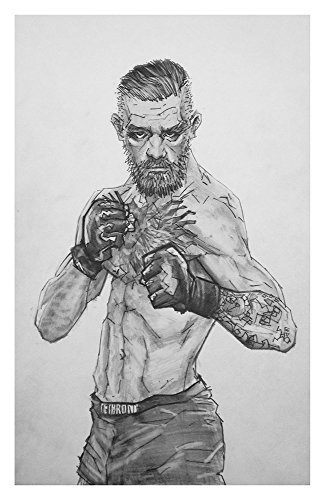 Conor McGregor pencil drawing from a few tattoos back
