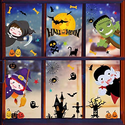 Voqeen Halloween Finestre Vetro Adesivi Pipistrelli Amico Adesivi Elettricità Statica Sticker Adesivi Accessori Halloween Finestra Adesivi per Halloween Party Decorazione Festival Fantasma