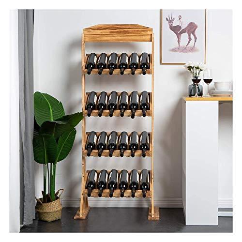 Sucastle Wijnrekken, vrijstaand hout, premium kwaliteit, eco friendly organisch wijnrek, modern design, op-tot 24-wijn-spiritus-flessenhouder, verticaal rek