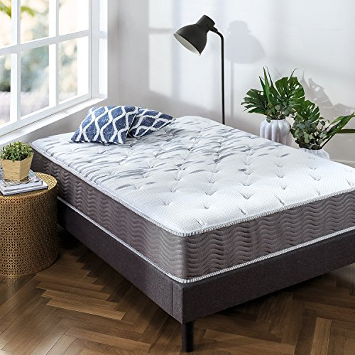 Zinus 10 Inch Support Plus Pocket Spring Hybrid Mattress/Extra Firm Feel/More Coils for Durable Support/Pocket Innersprings for Motion Isolation/Bed-in-a-Box, Queen