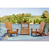 Life is Good 2 Chairs and Cooler Adirondack Natural 3pc (2 Chairs and Cooler) Patio Seating Set, 2 Chairs and Cooler