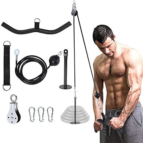 FBSPORT Poleas Gimnasio, Accesorio de Entrenamiento Fitness DIY para Triceps Pull Down, Biceps Curl, Espalda, Antebrazo, Hombro-Equipo de Gimnasio en casa
