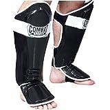 Ringside Combat Sports MMA Kickboxing Shin Guards, Black, Regular