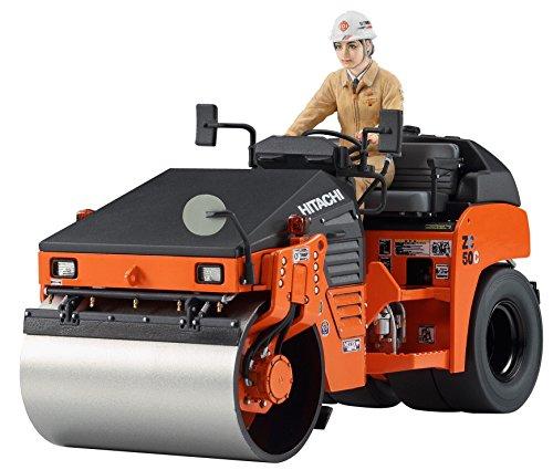 Hasegawa WM02 1/35 Vibrations-Straßenwalze Hitachi ZC50C5 Plastikmodellbausatz, Modelleisenbahnzubehör, Hobby, Modellbau, Mehrfarbig, 1:35 Scale