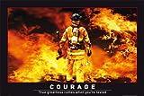 Motivational - Courage Motivation Feuerwehr Helden Heroes