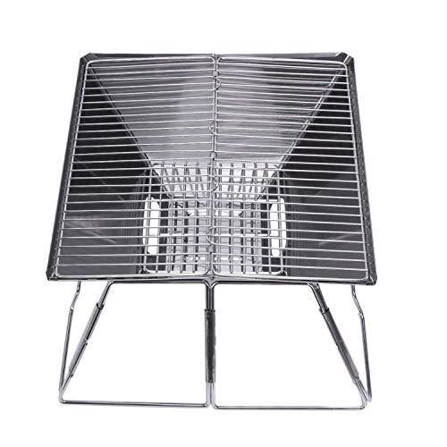 51A9GAKyEjL. SL500  - Outdoor Grill Grill Rack Folding Edelstahl Tragbare Wohnküche Camping Kochutensilien, Grillzubehör