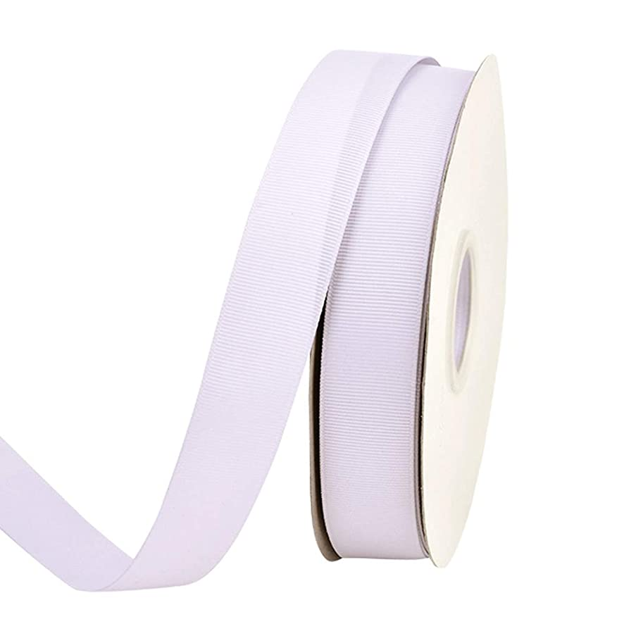Ribest 1 inch 50 Yards Solid Grosgrain Ribbon Per Roll for DIY Hair Accessories Scrapbooking Gift Packaging Party Decoration Wedding Flowers Lilac Mist