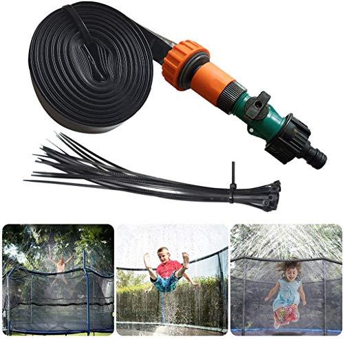GHONLZIN Aspersor Trampolín, TrampolíN Parque Acuatico Aspersor Mejor Al Aire Libre, Cama elástica de Jardín Water Play Sprinklers Pipe (15M)