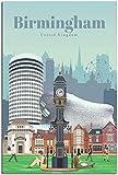 APAZSH Poster & Kunstdrucke Vintage Reise Poster Birmingham
