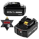 Boetpcr BL1860B マキタ18vバッテリー マキタ互换バッテリー マキタバッテリー 6.0Ah 18vバッテリー 2個セット LED残量表示 電動工具専用 バッテリー BL1830 / BL1840 / BL1850 / BL1860 対応 一年品質保証