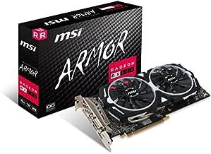 MSI Gaming Radeon RX 580 256-bit 4GB GDRR5 DirectX 12 VR Ready CFX Graphcis Card (RX 580 ARMOR 4G OC) (Renewed)