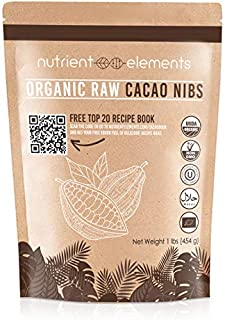 1lb Raw Organic Cacao Nibs - Certified, Unsweetened Nibs for Baking, Smoothies & More - Keto Super-food for Daily Use - Made from Highly Prized Criollo Beans in Peru - Non-Gmo, Gluten-Free & Vegan