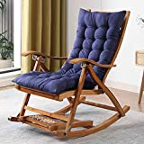 Folding Rocking Chair Balcony Household Bamboo Recliner For Adults Escape Rocking Rocking Chair Lunch Break Chair Recliner Chair Backrest Couch For The Elderly Free Installation Height Adjustable