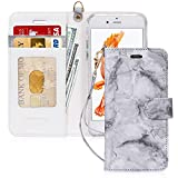 FYY Luxury PU Leather Wallet Case for iPhone 6/6s, [Kickstand Feature] Flip Phone Case Protective Shockproof Folio Cover with [Card Holder] [Wrist Strap] for Apple iPhone 6/6s 4.7' Grey