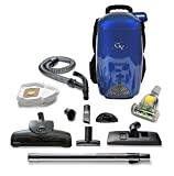 Blue 8 Quart Lightweight Backpack Vacuum Cleaner Loaded with Tools for Every Cleaning Job