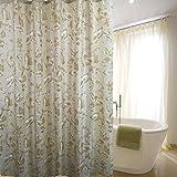 LAundNA Gold Blätter Dekor Wasserdichte Bad Duschvorhang mit 12 Kunststoff Haken , 220*200cm
