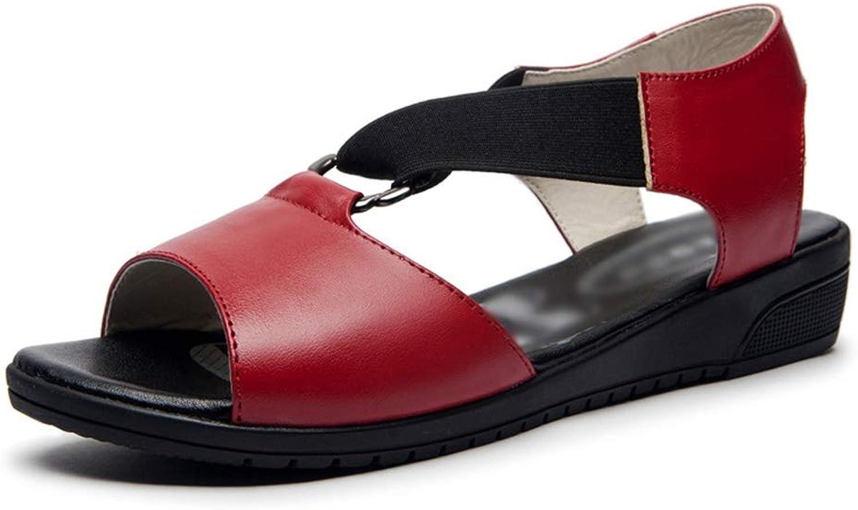 Pingyangxianyanludianzisha Women's Flat Sandals Non-Slip Breathable Comfort Leisure Summer Sandals