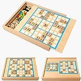 Barir Rompecabezas Juego de Mesa, con cajón Número Rompecabezas de Madera de Juguete de Madera Sudoku Juego de Mesa de la Inteligencia temprana de Aprendizaje de matemáticas la enseñanza