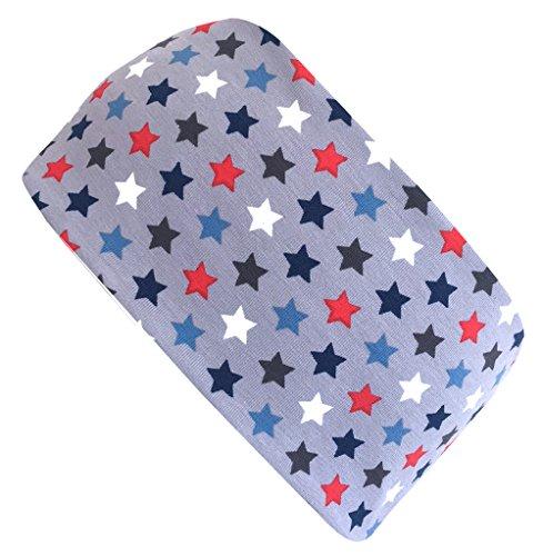 Wollhuhn ÖKO Cooles elastisches Stirnband, STERNCHEN grau/blau/rot (aus Öko-Stoffen, bio) für Jungen und Mädchen, 20180533