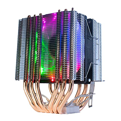 Tubos de Calor CPU Cooler 4 Pin PWM RGB PC Tranquilo Intel LGA 2011 775 1200 1150 1151 1155 AMD AM3 AM4 90mm CPU Ventilador de enfriamiento