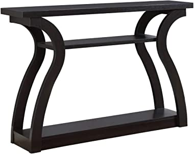 """Monarch Specialties 47"""" Console Table - Sleek and Modern Accent Table for Your Home (Cappuccino/Dark Brown)"""