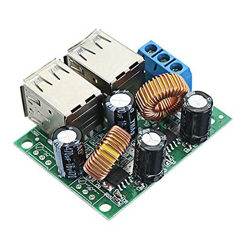 Módulo electrónico Vehículo multifunción 3A 4 interfaz USB Cargador de automóvil 36/24 / 12 / 9V a 5V 3A Módulo Buck Buck Board Board Cigarette Encendedor Fuente de alimentación 7-40V Equipo electróni