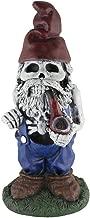 Design House 319657 Skeleton Man with Pipe Garden Gnome, Blue