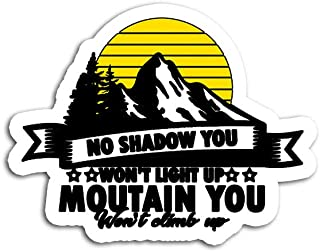 Hand Wooden Customizable Sticker No Shadow You Light Up Mountain Climb Stickers for Personalize (3 pcs/Pack)
