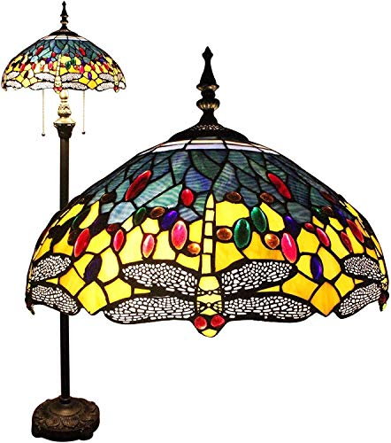 no bran Lámpara de Mesa Pintada Libélula Lámpara De Pie Luces De La Sala Baja Lámparas Retro Europeo Lámparas Decorativas Clásicas