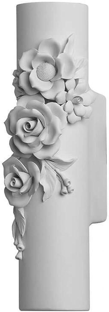 Karman capodimonte, lampada   led da parete, con fiori in ceramica AP1291B INT