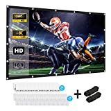 9. Projection Screen, Keenstone 120 inch 16:9 HD Foldable Anti-Crease Portable Projector Movies Screen for Home Backyard Theater Outdoor Indoor Support Double Sided Projection,High Contrast,Anti-Crease