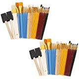 50本入り 油絵用筆 ペイントブラシ 水彩筆 ペイントツール 刷毛 画材筆 画材具 プレゼントにも 教具 絵具