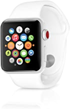 $229 » Apple Watch Series 3 38mm GPS + Cellular Silver Aluminum Case with White Sport Band (Renewed)